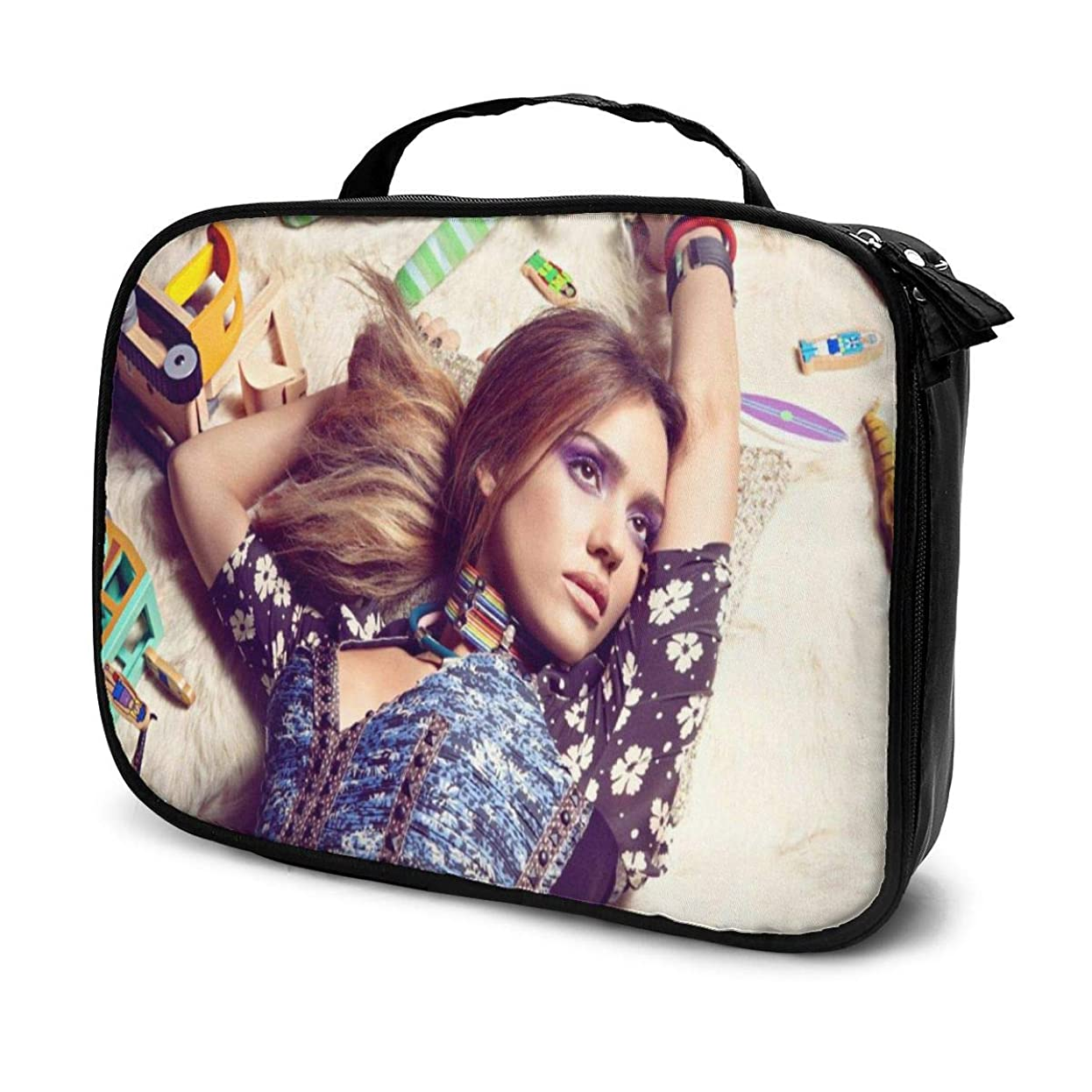 のり運搬マリナー化粧ポーチ Jessica Alba 女性化粧品バッグ ビューティー メイク道具 フェイスケアツール 化粧ポーチメイクボックス ホーム、旅行、ショッピング、ショッピング