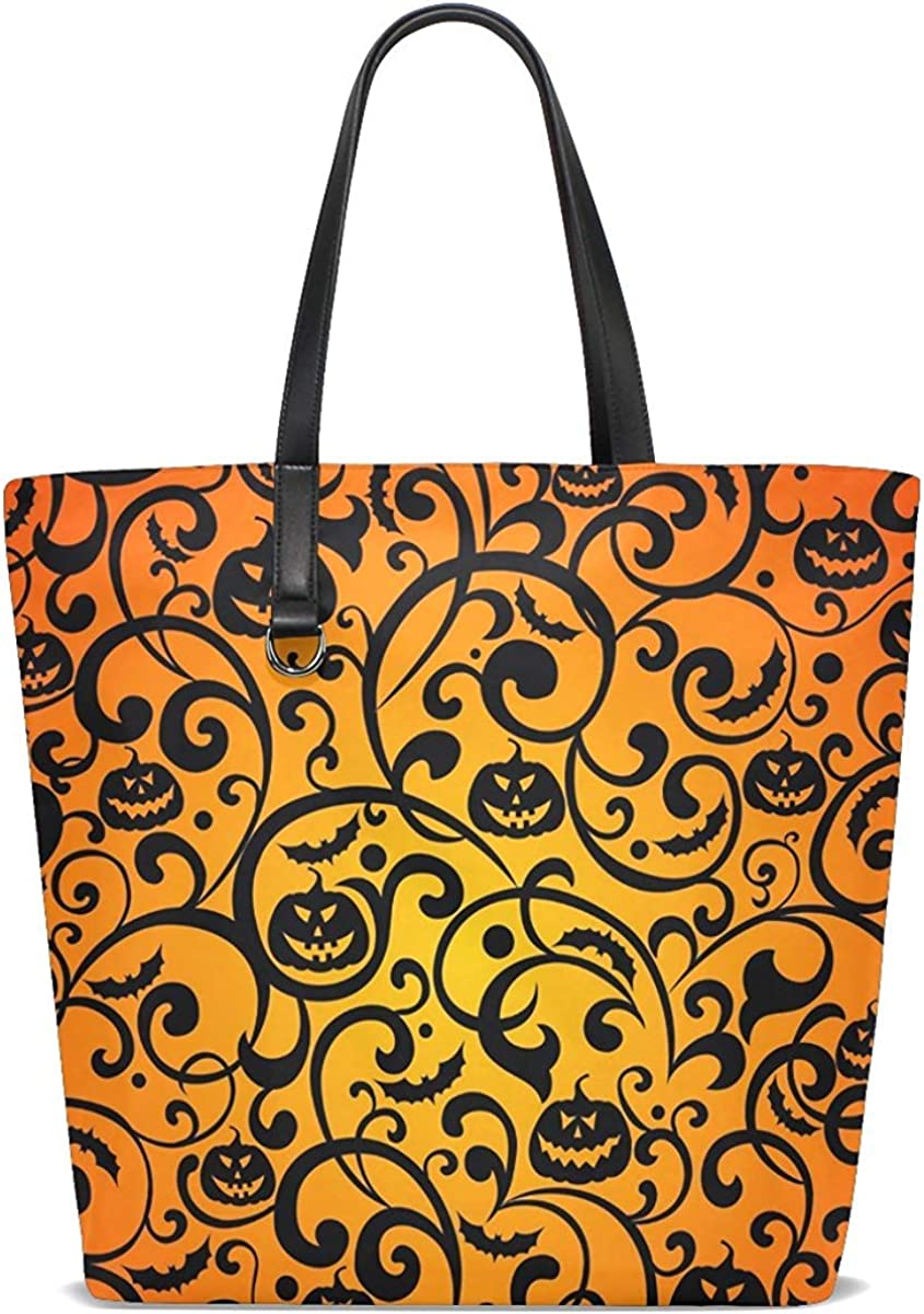 Tote Bag Purse Special New Shipping Free Shipping price for a limited time Halloween Bat Pumpkin Womens Handbag DaFlower
