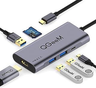 7 en 1 Adaptateur Multiport de Concentrateur USB C, QGeeM Adaptateur USB C vers HDMI 4K,..