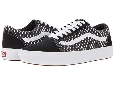 Vans Comfycush Old Skool ((Denim Embroidery) Black/White) Athletic Shoes