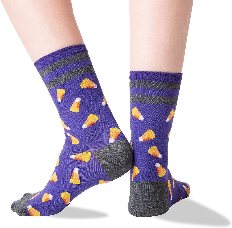 NEW Women/'s Halloween Candy Corn Sparkling Crew Socks Fits Shoe Sizes 4-10