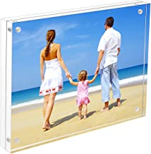 NIUBEE 8.5x11 Acrylic Frame, Clear Certificate Document Magnetic Photo Frame for Tabletop Display with Gift Box