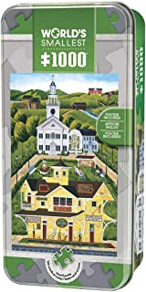 MasterPieces World's Smallest Bean Station Depot - Small Town 1000 Piece Tin Box Jigsaw Puzzle by Art Poulin