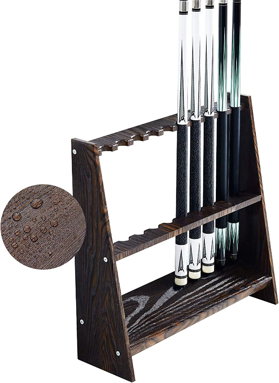 XYNH Stand Large-scale sale Billiard Pool Cue - Cues Com Rack 10 Holds Wood New mail order