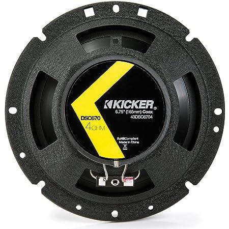 """2 Kicker 43DSC6704 D-Series 6.75"""" 240W 2-Way 4-Ohm Car Audio Coaxial Speakers"""