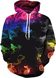 uideazone Unisex 3D Digital All Over Print Zip Up Hoodie Casual Pullover Hooded Sweashirt Jacket with Pockets