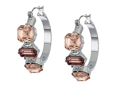 Vince Camuto Jewelry Hoops Earrings (Rhodium/Blush Rose/Vintage Mauve/Black Diamond) Earring