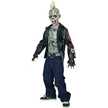Child Punk Zombie Halloween Costume Medium 5-7 Years (disfraz ...