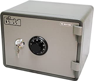 Gardall MS911-G-CK w One Hour Horizontal Microwave Style Fire Safe with Key & Combination Lock, Grey