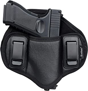 Kosibate Pancake Holster, Gun IWB Holster PU Leather Fit Glock 19 23 32 26 27 30 33, M&P Shield, XDs, Sig P320Taurus PT111