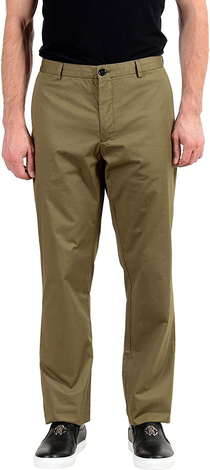 BURBERRY Men's Olive Green Casual Pants US 42 IT 58