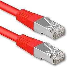 1aTTack.de® 30m - Rojo - 1 Pieza - CAT6 Cat 6 Ethernet LAN Cable de Red 1000 Mbit/s CAT6 Doble blindado PIMF 250MHz Libre de halógenos Compatible con CAT5e CAT6a CAT7 CAT8