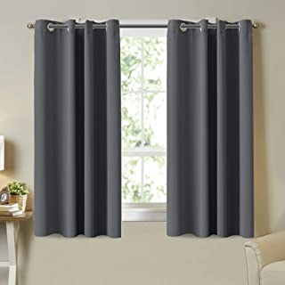 Blockout Curtains Pair Blackout Light Blocking Curtains Draperies for Bedroom / Living Room Window Treatment 2 Pieces, Sof...