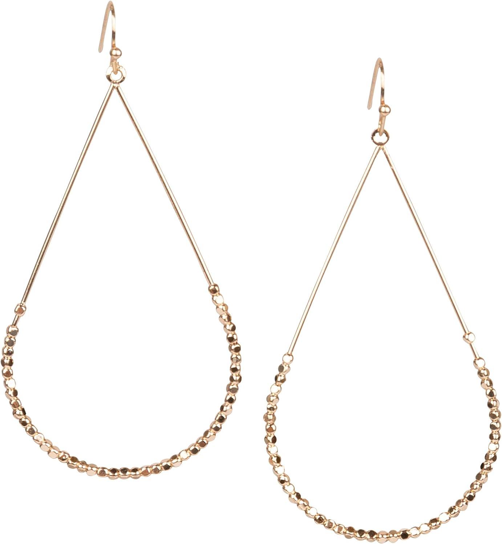 Earrings Teardrop hoop dangle drop with Seed Beads for Women