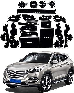 ranura for accesorios de Interior puerta de la ranura almohadilla central Consola de almacenamiento de goma de la puerta puerta de la pue Alfombras de coche Compatible con Hyundai Tucson TL 2016-2019