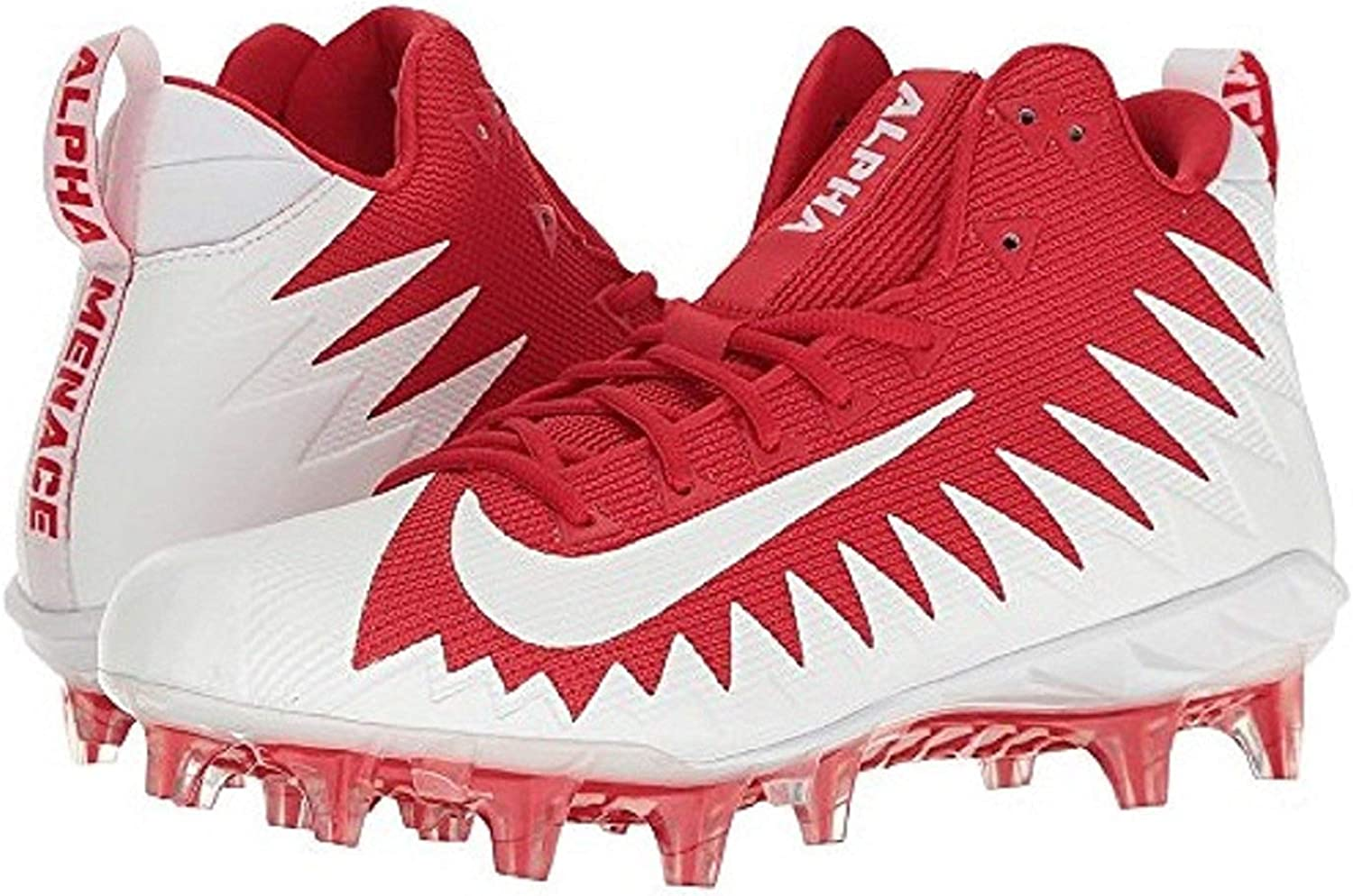 NIKE Alpha Menace Pro Mid Mens Football Cleats 871451 611 University rot Weiß - Weiß 8 rot Weiß