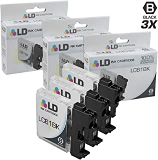 LD © Compatible LC-61 Set of 3 Black Inkjet Cartridges for the DCP-165c, 375CW, 385CW, 395CN, 585CW, J125, J140W, MFC-250C, 255CW, 290C, 295CN, 490CW, 495CW, 5490CN, 790CW, 795CW, 990CW, J220, J265W, J270W, J410W, J415W, J615W, J630W, MFC-5895cw Printers