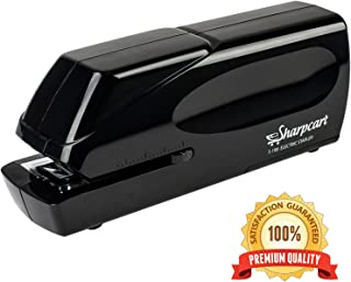 25 Sheet Capacity Electric Stapler – Automatic Heavy Duty No-Jam Stapler - Battery Operated or AC Powered (AC Power Adapter Included) – 100% Satisfaction Guarantee by Sharpcart