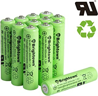 12 Pack Ni-Mh 600 mAh AAA Pre-Charged Rechargeable Batteries Solar Batteries for Solar Lights Garden Lights Lamp Outdoor Lights
