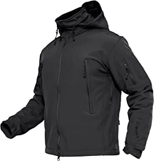 Men's Tactical Jacket Winter Sports Hiking Skiing Water Resistant Fleece Lined Winter Coats Multi-Pockets