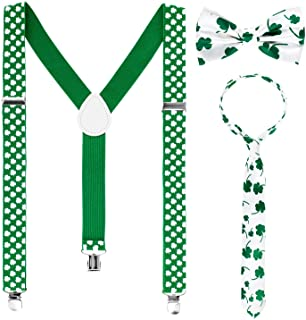 c2974df168f Whaline St. Patrick Costume Set Include Sequin and Shamrock Suspenders