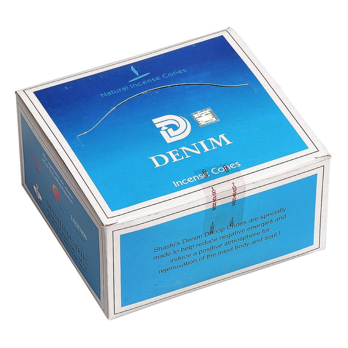 複数音声近似SHASHI(シャシ) デニム DENIM コーンタイプ コーンタイプ お香 12箱 セット [並行輸入品]
