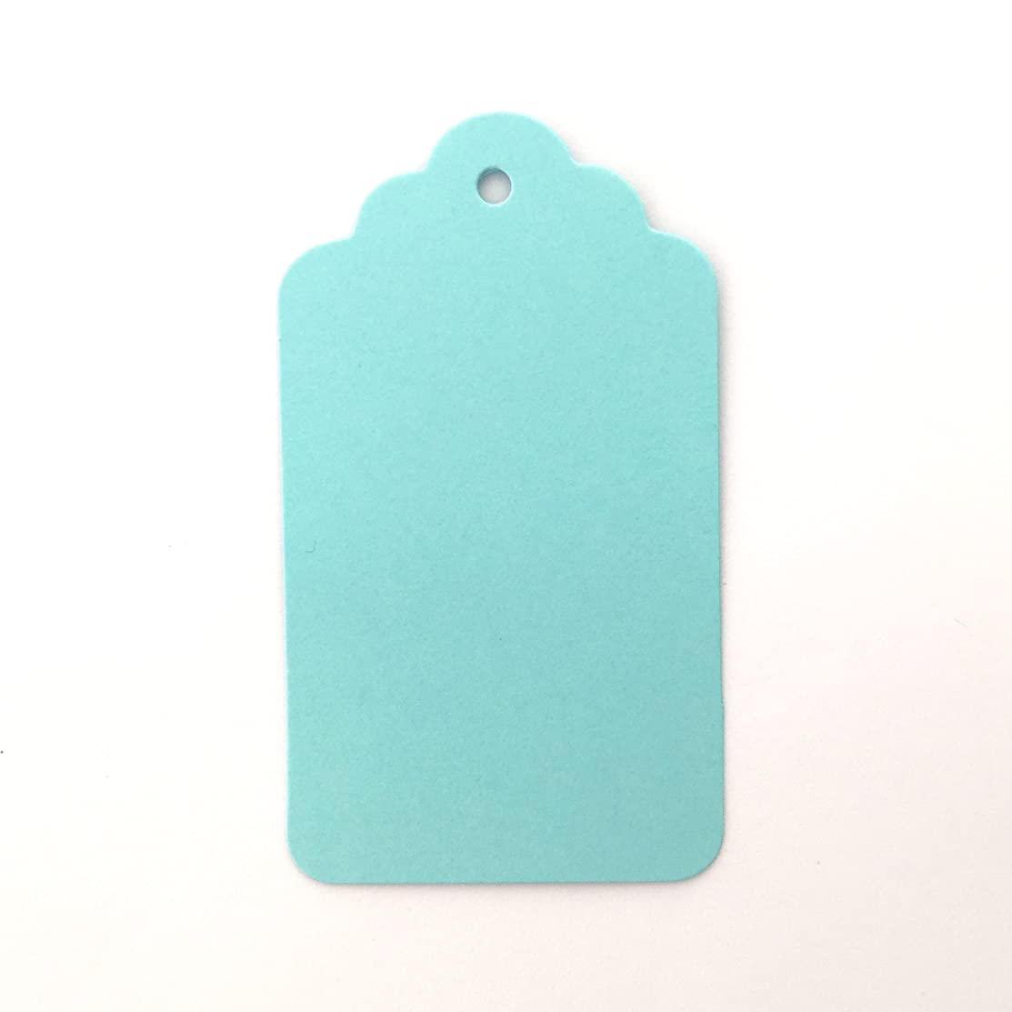 LWR Crafts 100 Hang Tags Scalloped Top Rectangle with Jute Twines 100ft (2 3/4