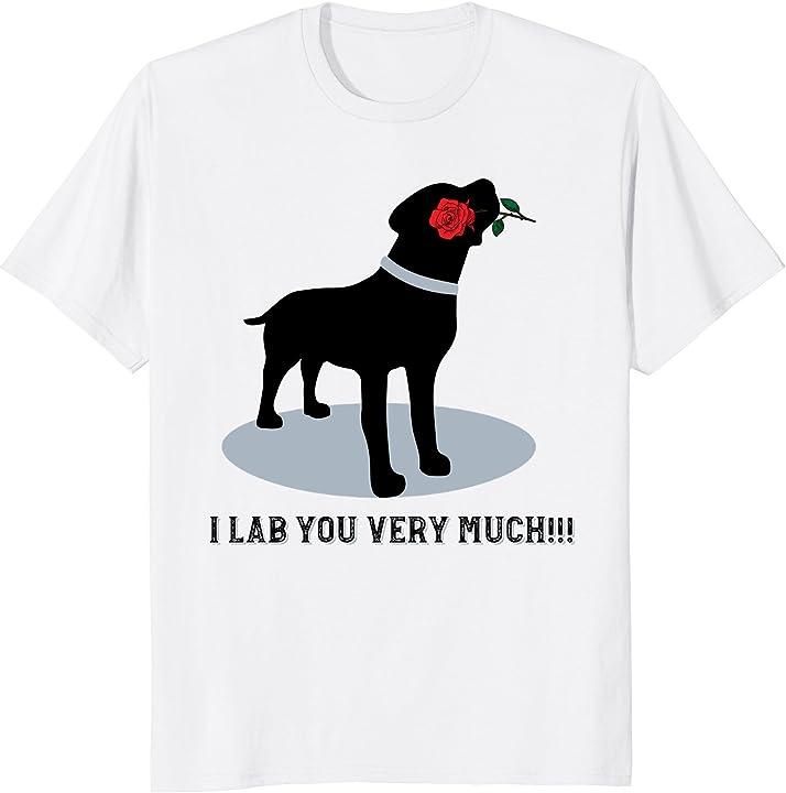 'I Lab You Very Much' Valentine's Day Black Labrador Shirt