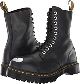 Dr martens 939 6 eye hiker boot aged greasy, Black | 6pm