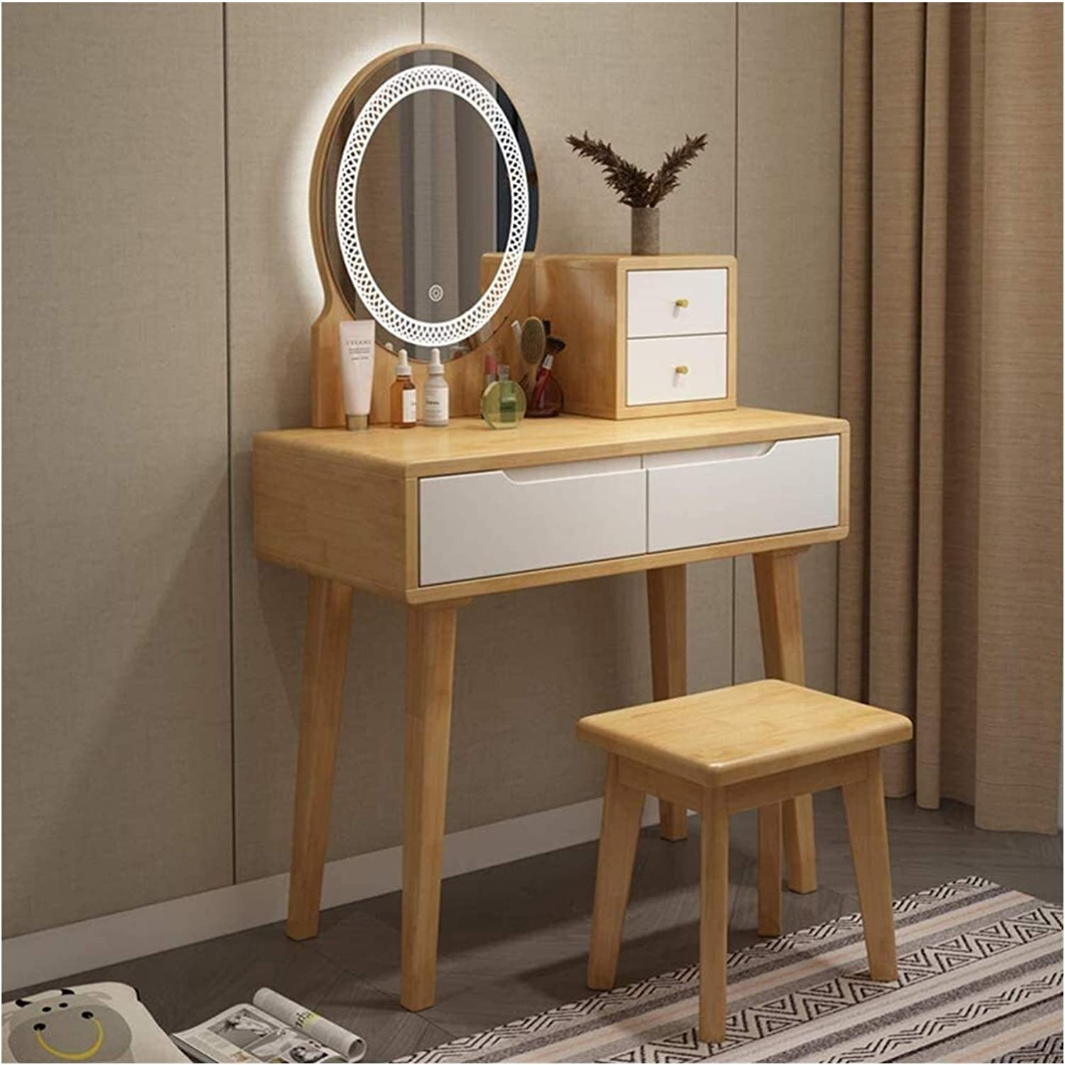 LXYLXY Makeup Max 81% OFF Organizer Vanity Set Table with Touch Cheap