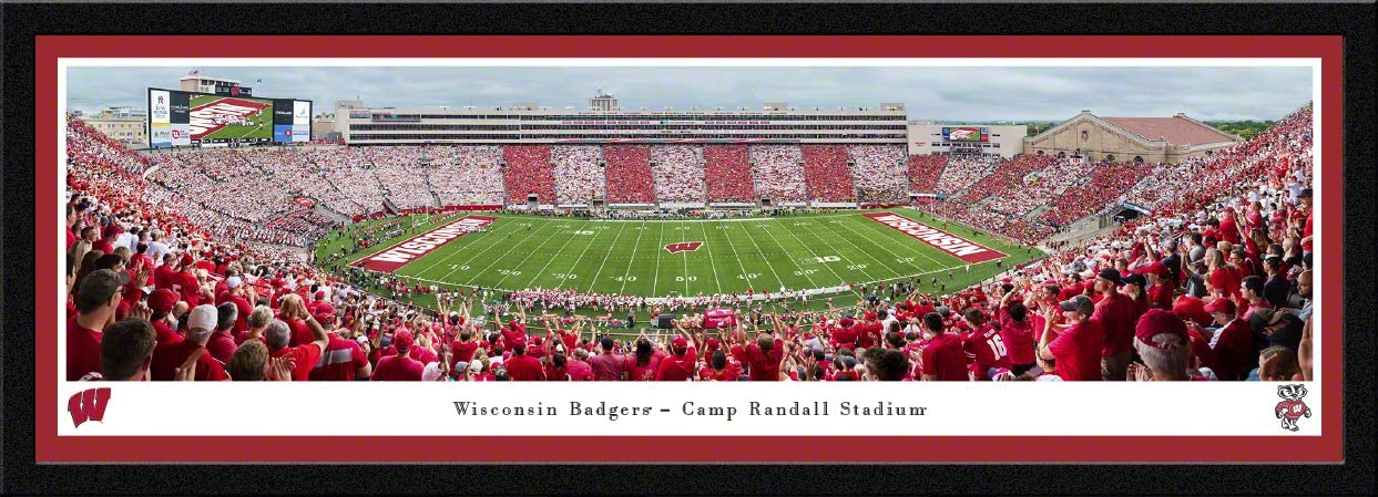 Wisconsin Badgers Football - Panoramic Posters and Framed Pictures by Blakeway Panoramas