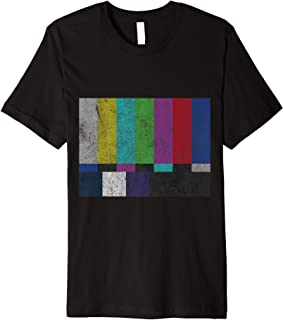 Vintage TV Test Pattern Color Bars Premium T-Shirt