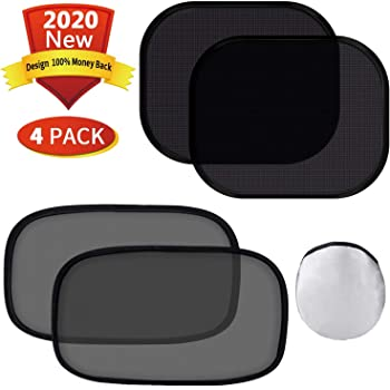 "4 Pack Easy to Install 20/""x12/"" Pets and Kids Large 80 GSM for Maximum Sun Cling Sunshades for Baby Glare and UV Rays Protection for Your Child iElegance Car Window Shade"
