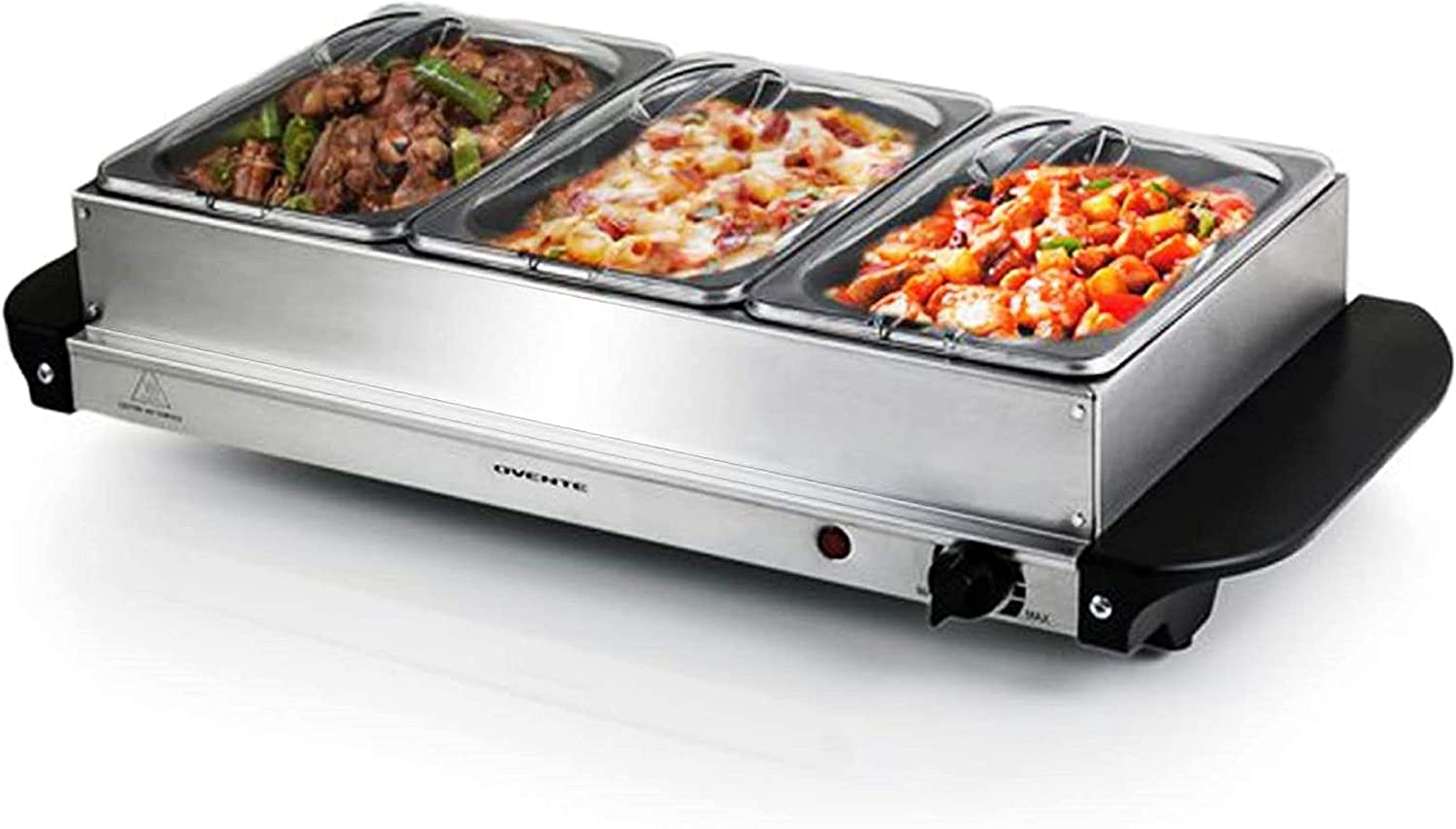 Ovente wholesale Electric Food Buffet Server low-pricing Stainless Warmer 3 Portable