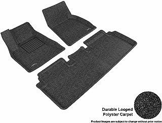 3D MAXpider Complete Set Custom Fit All-Weather Floor Mat for Select Tesla Model S Models - Classic Carpet (Black)