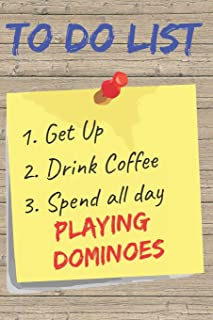 To Do List Playing Dominoes Blank Lined Journal Notebook: A daily diary, composition or log book, gift idea for people who love to play dominoes !!