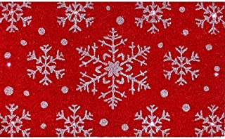 Regency Led Battery Operated Light up Snowflakes Coir Mat