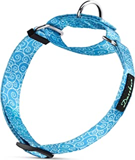 Dazzber Martingale Collar Dog Collar No Pull Pet Collar Heavy Duty Dog Martingale Collars Silky Soft with Fashion Print and Unique Geometric Pattern for Medium and Large Dogs