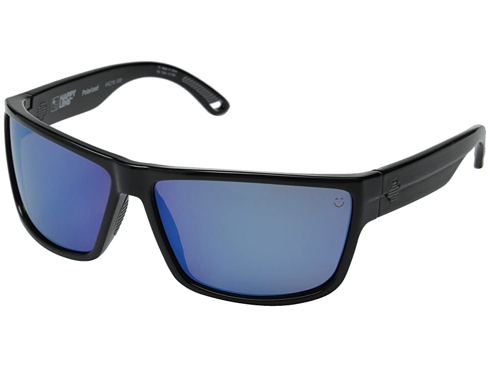 Spy Optic Rocky (Black/Happy Bronze Polar w/ Blue Spectra) Fashion Sunglasses
