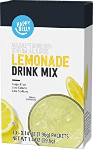 Amazon Brand - Happy Belly Drink Mix Singles, Lemonade (10 packets) (Previously Solimo)
