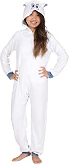 Smallfoot Warner Brothers Migo Snowman Yetti Hooded Onesie Fleece One Piece Holiday Costume Pajama