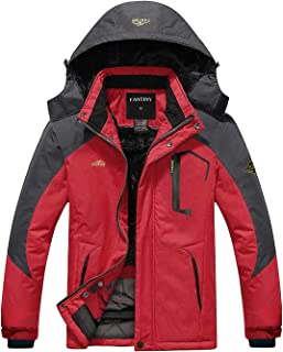 CIOR Men's Mountain Waterproof Ski Jacket Windproof Rain Jacket