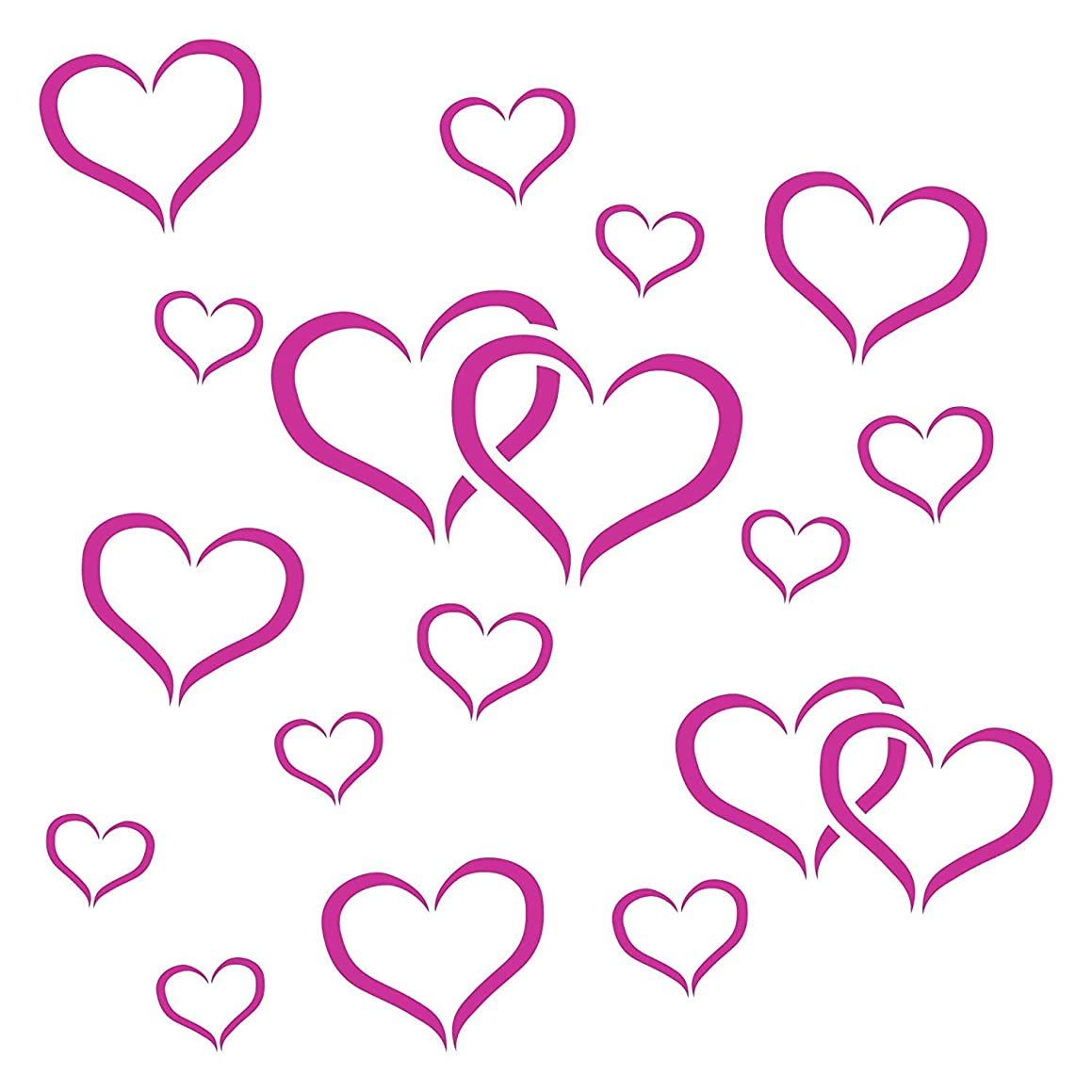 """LOVE HEARTS STENCIL (size 9""""w x 9""""h) Reusable Stencils for Painting - Best Quality Scrapbooking Valentines Ideas - Use on Walls, Floors, Fabrics, Glass, Wood, Posters, and More…"""
