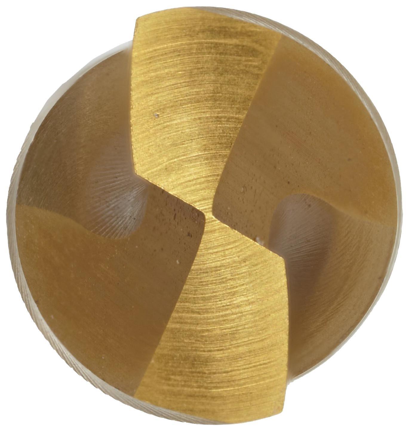 19//64 Pack of 1 135 Degree Radius Split Point Precision Twist QC41G High Speed Steel Short Length Drill Bit TiN Coated Round Shank Parabolic Flute