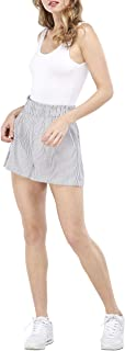 Our Heritage Women's Shorts Women's Stripe Paper Bag Short with Elastic Waist