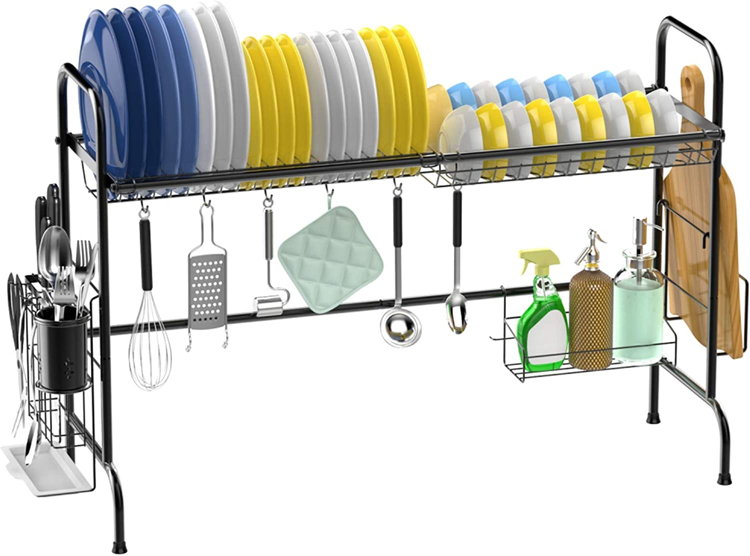 Over The Sink Dish Special price favorite Drying Stainless Large Rack Veckle