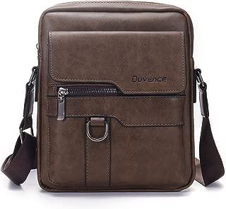 Duvence business crossbody bag for men PU leather man purse retro small messenger bag