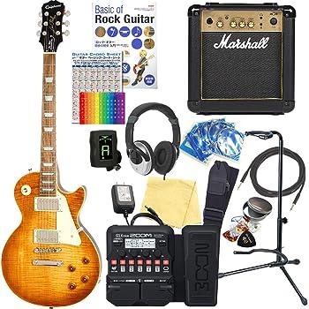 エピフォン レスポール Epiphone Les Paul Standard Plus-top PRO MF エレキギター マーシャルアンプ付 初心者 入門18点セット【ZOOM G1XFour マルチエフェクター付】