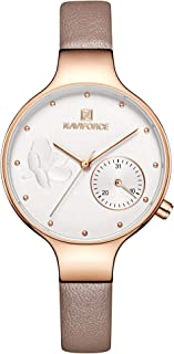 Naviforce Casual Watch For Women Analog Leather - NF5001-GR