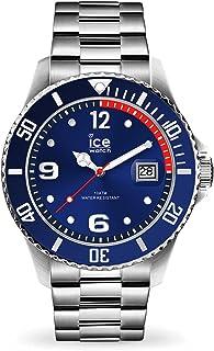 ICE-Watch - Ice Steel Bleu Argent - Montre Bleue Mixte avec Bracelet en Metal - 015771 (Medium)